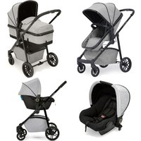 Ickle bubba Moon All-in-One Travel System with Astral Car Seat-Silver Grey
