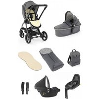 egg® 2 Luxury 3in1 Pebble Pro Travel System with Familyfix2 Base-Jurassic Grey (NEW)