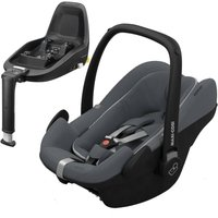 Maxi Cosi Pebble Plus Car Seat With 2Way Fix Bundle-Graphite