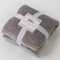 Bizzi Growin Quilted Dutch Velvet Baby Quilt-Grey