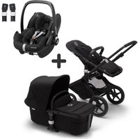 Bugaboo Fox2 and Maxi Cosi Pebble Pro Travel System Bundle-Black/Black