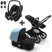 Bugaboo Fox2 and Maxi Cosi Pebble Pro Travel System Bundle-Black/Black/Vapor Blue
