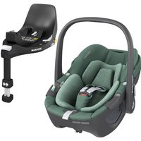 Maxi Cosi Pebble 360 Group 0+ Car Seat With FamilyFix 360 Base-Essential Green (NEW 2021)