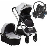 Bababing Raffi Silver Frame 3in1 Maxi Cosi Cabriofix Travel System-Vapour Grey (2021)