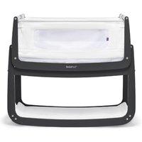 SnuzPod4 Bedside Crib with Mattress-Slate