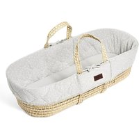 The Little Green Sheep Natural Quilted Moses Basket and Mattress-Dove Rice