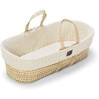 The Little Green Sheep Organic Knitted Moses Basket and Mattress-Linen