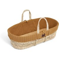 The Little Green Sheep Organic Knitted Moses Basket and Mattress-Honey