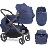 iCandy Orange Twin Pushchair and Carrycot - Royal Blue Marl