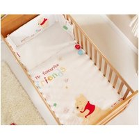 Obaby Disney Cot/Cot Bed Quilt & Bumper Set-Winnie The Pooh - Disney Gifts