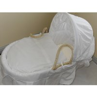 IzziWotNot White Essential Maize Moses Basket