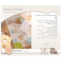 Forever Friends Little Star Luxury 5 pc Cot Bed Bedding Bale - Pc Gifts