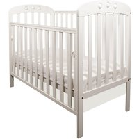 Little Babes Abbi Dropside Cot-White + Free Foam Mattress