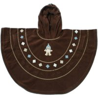 Baby Boum Hooded Fleece Poncho in 'Pichu' design 9-36 months-Choco - Baby Gifts