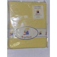 Angel Kids Pram Sheet Terry Fitted-Lemon