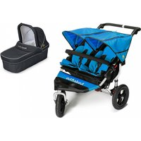 Out n About Nipper Double 360 V4 Pram System-Lagoon Blue (1 Carrycot)