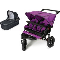 Out n About Nipper Double 360 V4 Pram System-Purple Punch (1 Carrycot)