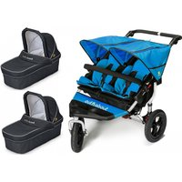 Out n About Nipper Double 360 V4 Pram System-Lagoon Blue (2 Carrycot)