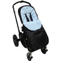 Kiddies Kingdom Deluxe Showerproof Pushchair Footmuff-Light Blue