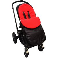 Kiddies Kingdom Deluxe Showerproof Pushchair Footmuff-Red