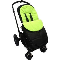Kiddies Kingdom Deluxe Showerproof Pushchair Footmuff-Lime Green
