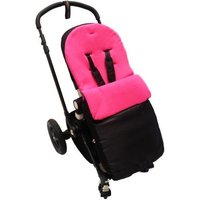 Kiddies Kingdom Deluxe Showerproof Pushchair Footmuff-Cerise
