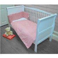 Kiddies Kingdom Deluxe Polka Cotbed Bedding Set-Pink Dot - Bedding Gifts