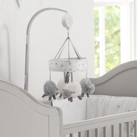 'East Coast Silver Cloud Cot Mobile-counting Sheep