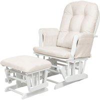 Kub Haywood Glider Nursing Chair and Stool-White - Nursing Gifts