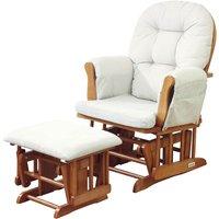 Kub Haywood Glider Nursing Chair and Stool-Natural - Nursing Gifts