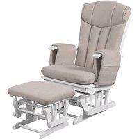 Kub Chatsworth Glider Nursing Chair and Stool-Cappuccino Cushion