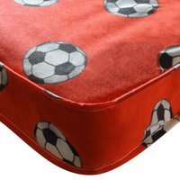 Kidsaw Single Sprung Football Mattress-Red - Football Gifts