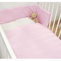 Kiddies Kingdom Marshmallow Cot/Cotbed LUXURY Quilt & Bumper Bedding Set-Pink