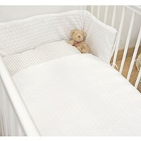 Kiddies Kingdom Marshmallow Cot/Cotbed LUXURY Quilt and Bumper Bedding Set-White