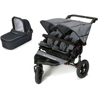 Out n About Nipper Double 360 V4 Pram System-Steel Grey (1 Carrycot)