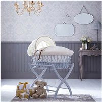Izziwotnot Grey Wicker Moses Basket-Cream Gift