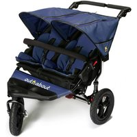 Out n About Nipper Double 360 V4 Stroller-Royal Navy-FREE DOUBLE SHOPPING BASKET