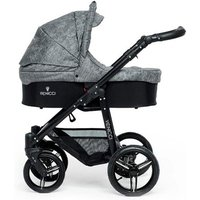 Venicci Soft Black Chassis 2in1 Pushchair-Denim Grey