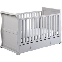 East Coast Alaska Sleigh Cot Bed-Grey + Underbed Drawer! - Bed Gifts