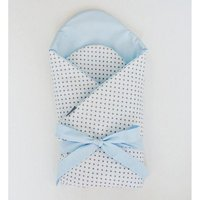 Little Babes Soft Swaddle Wraps-White Spotty With Blue - Spotty Gifts