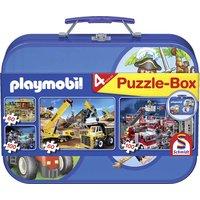 Schmidt Spiele: 4er Puzzle-Box Playmobil
