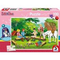 Bibi & Tina: Puzzle mit Motiv-Turnbeutel