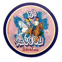 Bibi & Tina: Getränkeuntersetzer / Bierdeckel (lila)