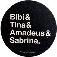 Bibi & Tina: Getränkeuntersetzer / Bierdeckel (schwarz)