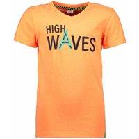 B.Nosy! Jongens Shirt Korte Mouw – Maat 164 – Oranje – Katoen/polyester/elasthan
