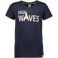 B.Nosy! Jongens Shirt Korte Mouw – Maat 164 – Donkerblauw – Katoen/polyester/elasthan