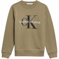 Calvin Klein Jeans! Unisex Sweater – Maat 176 – Olijfgroen – Katoen