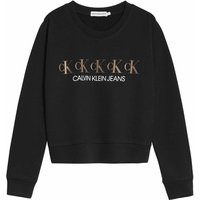 Calvin Klein Jeans! Meisjes Sweater – Maat 176 – Zwart – Katoen/elasthan