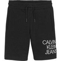 Calvin Klein Jeans! Jongens Bermuda – Maat 164 – Zwart – Katoen/elasthan