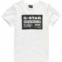 G-Star RAW! Jongens Shirt Korte Mouw – Maat 176 – Off White – Katoen